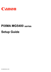 Canon PIXMA MG5422 Setup Manual