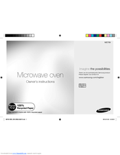 Manuals And User Guides For Samsung Me76v We Have 1 Manual Available Free Pdf Owner S Instructions