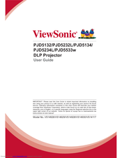 Viewsonic PJD5533w User Manual
