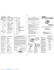 sharp xe a107. sharp xe-a107 instruction manual xe a107