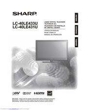 sharp aquos lc 40le433u manuals rh manualslib com Sharp ER-A170 Microwave Oven Sharp R 308J