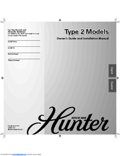 Hunter 25746 Owner's Manual And Installation Manual