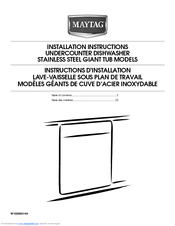 Dishwasher Countertop Moisture Barrier : ... - Jetclean Plus 24 in. Dishwasher Installation Instructions Manual