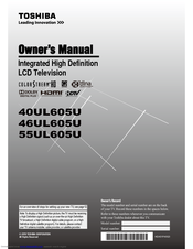 Toshiba 40UL605U Owner's Manual