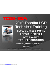 Toshiba 40SL500U Technical Training Manual
