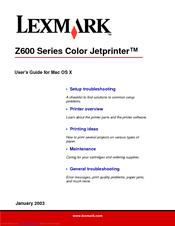 Lexmark z611 manual.