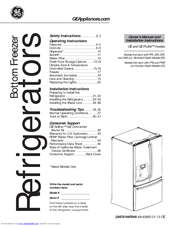 General Electric Refrigerator Owners Manual PDF