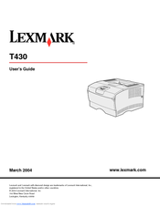 Lexmark laser printer manuals for 13 20 paper jam check rear door