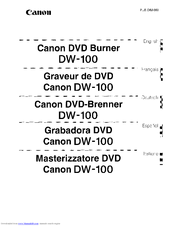 Canon DW-100 User Manual