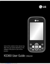 lg ks360 cell phone 15 mb manuals rh manualslib com LG P505 Manual LG TracFone Instruction Manual