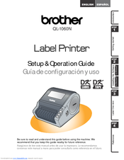 Brother P-touch QL-1050N Set Up And Operation Manual