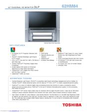 toshiba theaterwide 62hm84 manuals rh manualslib com Toshiba 55HT1U Manual Toshiba Laptop User Manual