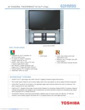 toshiba theaterwide 62hm95 manuals rh manualslib com 62 Toshiba TheaterWide HD Toshiba 62 Inch DLP TV