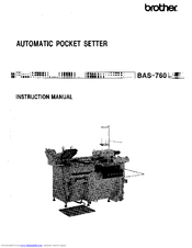 Brother BAS-760 Instruction Manual
