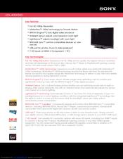 sony kdl 40ex500 bravia ex series lcd television manuals rh manualslib com sony tv kdl-40ex500 manual