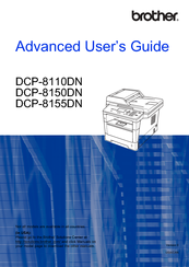 Brother DCP-8150DN Advanced User's Manual