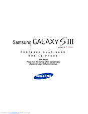 Samsung Galaxy S III User Manual