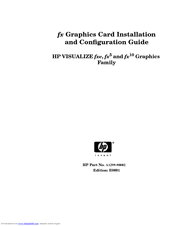 HP Visualize c360 - Workstation Installation Manual