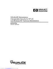 HP Visualize c200 - Workstation Manual