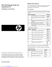 HP C8000 - Workstation - 0 MB RAM Installation Instructions Manual