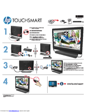 HP TouchSmart 520-1000 Quick Setup Manual