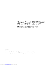 hp presario cq56 100 notebook pc maintenance and service manual rh manualslib com Compaq CQ56 Specifications Compaq Presario CQ50