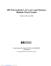 HP VISUALIZE fx6+ Installation Manual
