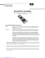 HP A8051A Installation Instructions