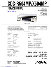 Aiwa Cdc X504mp Manuals Manualslib