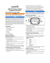 Garmin GSD 24 Manuals