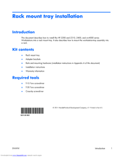 HP Z400 - Workstation Introduction Manual