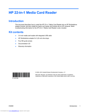HP Z400 - Workstation Installation Manual