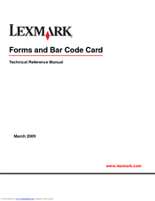 Lexmark X864 Technical Reference Manual