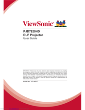 Viewsonic PJD7820HD User Manual