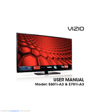 vizio e601i a3 user manual pdf download rh manualslib com vizio 60 inch smart tv specs vizio 60 inch smart tv specs