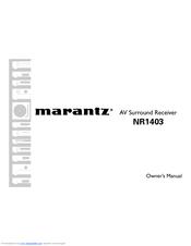 marantz nr1403 manuals rh manualslib com Marantz New NR1403 marantz nr1403 service manual