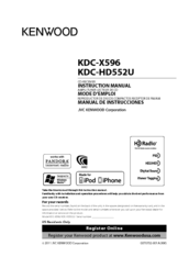 Kenwood KDC-HD552U Instruction Manual