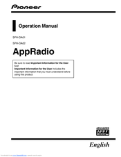 Pioneer AppRadio SPH-DA01 Operation Manual