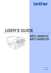 Brother MFC 6490CW - Color Inkjet - All-in-One User Manual