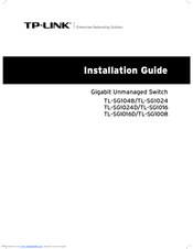 TP-LINK TL-SG1024 INSTALLATION MANUAL Pdf Download