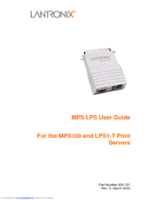 LANTRONIX MPS100 PRINT SERVER DRIVERS WINDOWS 7