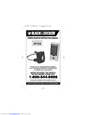 Black & Decker EM100B Instruction Manual