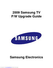 Samsung LN46B750U1F Firmware Upgrade Manual