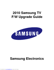 Samsung PN58C550G1F User Manual