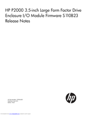 HP P2000 Release Note