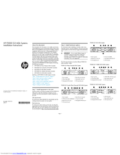 HP P2000 Installation Instructions Manual
