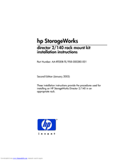 HP StorageWorks director 2/140 Installation Instructions Manual