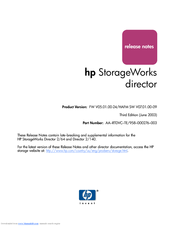 HP StorageWorks 2/140 - Director Switch Release Note