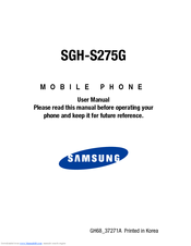 Samsung SGH-S275G User Manual