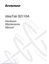 Lenovo IdeaTab S2110A Hardware Maintenance Manual